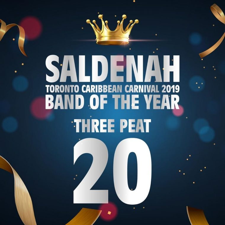 Saldenah Carnival Band of the Year 2019 for 20 years
